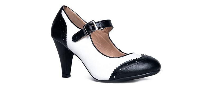 J. Adams Mary Jane heeled vegan Oxford shoes
